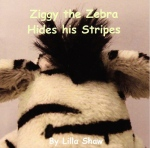 Ziggy the Zebra Hides his Stripes - front cover